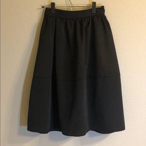 Gorgeous never worn black grosgrain  skirt